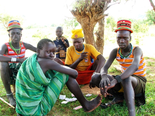 Young warriors no jobs. Photo Vibeke Quaade. JPG